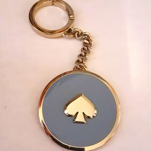 Rare KATE SPADE Ace of Spade Enamel Keychain Fob